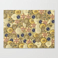 Covered in Buttons Canvas Print
