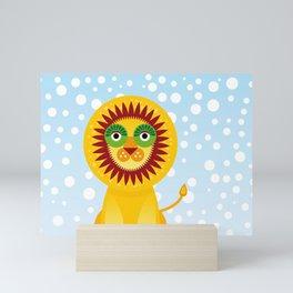 Funny lion Mini Art Print