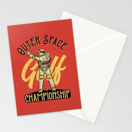Outer Space Golf Championship Stationery Cards