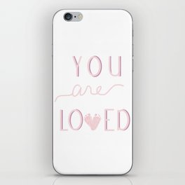 You are loved baby footprint pink iPhone Skin