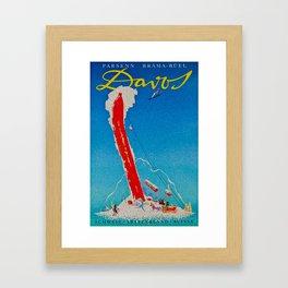 Davos Switzerland Ski Travel Framed Art Print