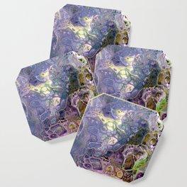 Freeform 25 - Coral Reef Abstract - Flow Acrylic Original Coaster
