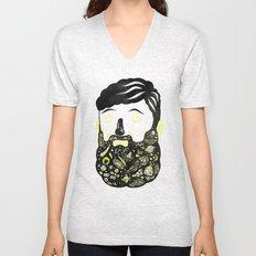 Space Beard Guy Unisex V-Neck