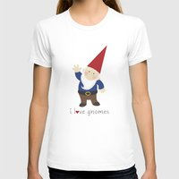 gnome T-shirts featuring Gnome Love by Ink Tree Press by Erin Rippy