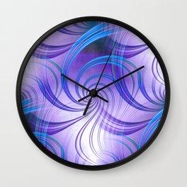 Pathways (purple) Wall Clock