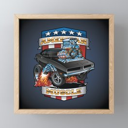 Dragster Framed Mini Art Prints | Society6
