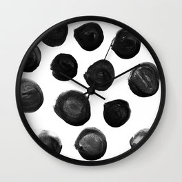 Large Blotches Wall Clock
