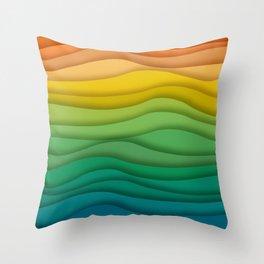 waves 2 Throw Pillow
