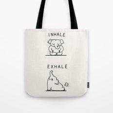Inhale Exhale Elehant Tote Bag