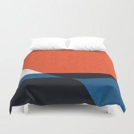 Blue and red modern art V Duvet Cover