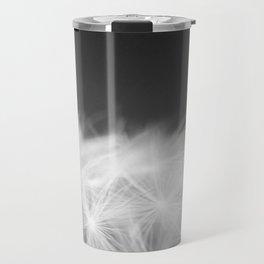 Dandelion Blowball Closeup Black and White #decor #society6 #buyart Travel Mug
