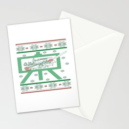 Painting Christmas Stationery Cards
