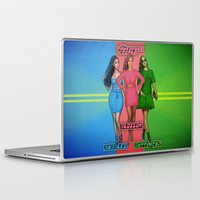 powerpuff girls Laptop & iPad Skins featuring The PowerPuff Girls by Tyler Simien
