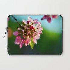 Pink Flowers Blue sky Laptop Sleeve