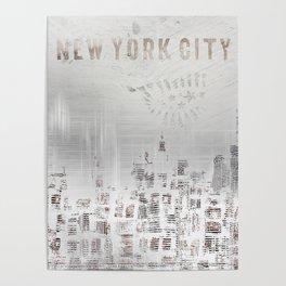 MODERN ART New York City Skylines Poster