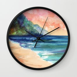 Ke'e Beach Wall Clock