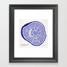 Ponderosa Pine – Navy Palette Framed Art Print