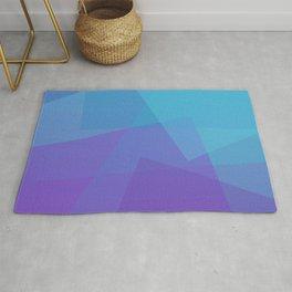 Purple Geometry Rug