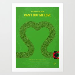 No894 My Cant Buy Me Love minimal movie poster Art Print