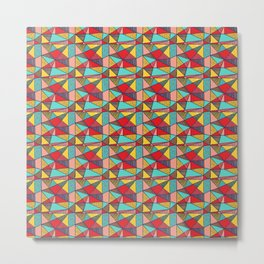 Colorful Geometric Abstract Pattern Metal Print