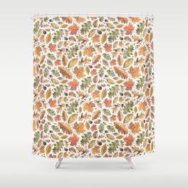 Watercolour Autumn Leaves. Shower Curtain