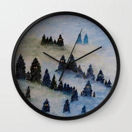 Trollen i snotackta skogen Wall Clock