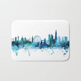 London England Skyline Bath Mat