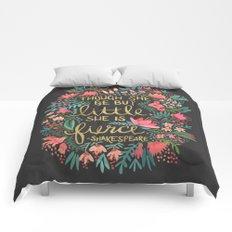 Little & Fierce on Charcoal Comforters