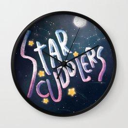 Star Cuddles Wall Clock