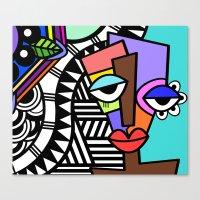 artsy Canvas Prints featuring Artsy by Andrea Silvestri