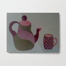 Modern Tea Set Metal Print