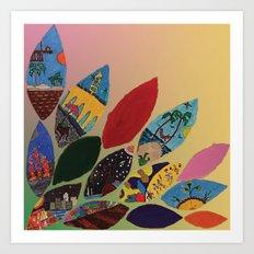 Petals y Petalos Art Print