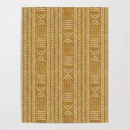 mustard mud cloth - arrow cross Poster