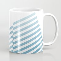 bands Mugs featuring Blue Bands by blacknote