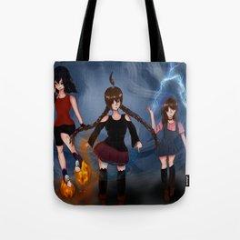The Demon Triplets Tote Bag