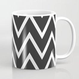 ᚖ NOIR SERIES ᚖ  Chevron Black & White pattern Coffee Mug
