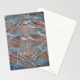 Vortex blue geometry V Stationery Cards