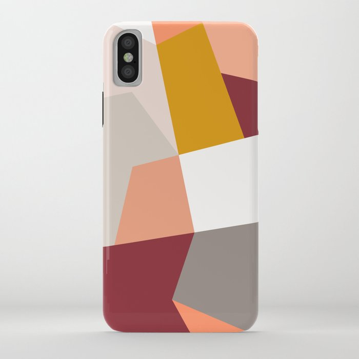 Abstract Geometric 27 Red iPhone Case