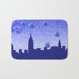 New York Bubbles Skyline Bath Mat