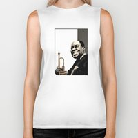 louis Biker Tanks featuring Louis Armstrong by f_e_l_i_x_x
