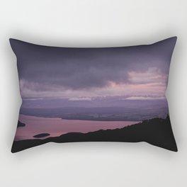magenta sunset over lake te anau Rectangular Pillow