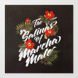 The Salinas of Marchamalo / Tropical Print Canvas Print