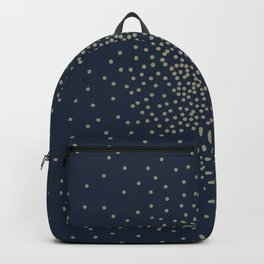 Dots Illusion - Gold and Navy Blue Backpack