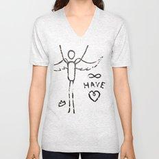 have heart Unisex V-Neck