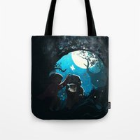 gravity falls Tote Bags featuring Gravity by Larelley