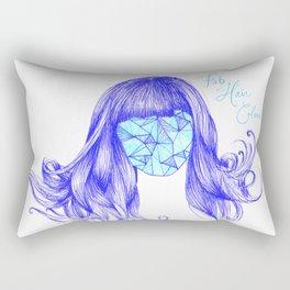 Fab hair colour. By Sarah Clement Rectangular Pillow
