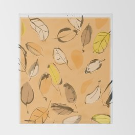 Arbutus leaves Throw Blanket