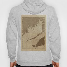 Vintage Map of Buzzards Bay (1776) Hoody