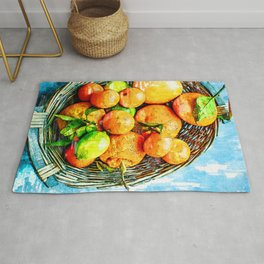 Citrus Basket Of Vitamin C - For Fruit Lovers Rug