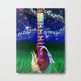 Fusion Keyblade Guitar #173 - Way to the Dawn & Counterpoint Metal Print